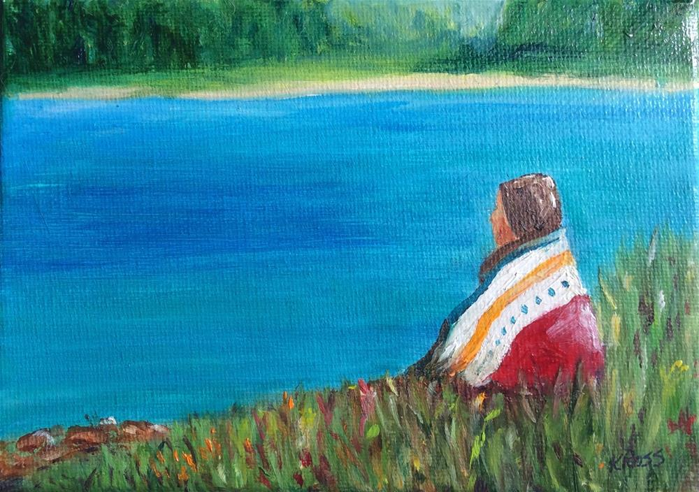 """Solitude"" original fine art by Kathryn Ross"