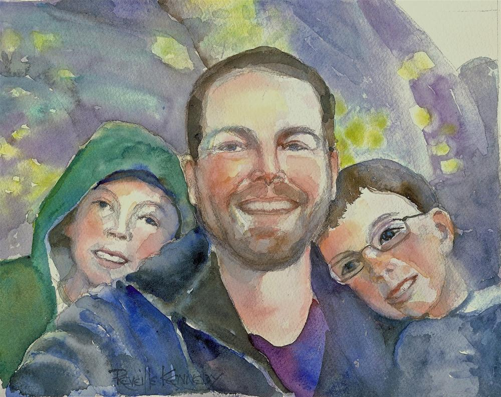 """Nate, Christopher and Andrew"" original fine art by Reveille Kennedy"