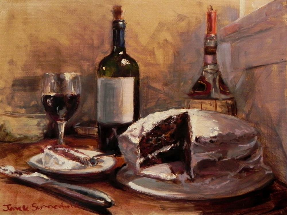 """Dessert"" original fine art by Jonelle Summerfield"