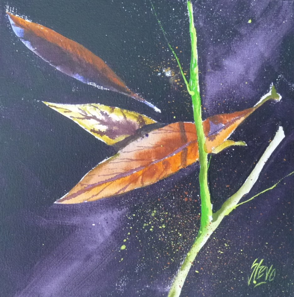 """Leaves and Grass II"" original fine art by Martin Stephenson"