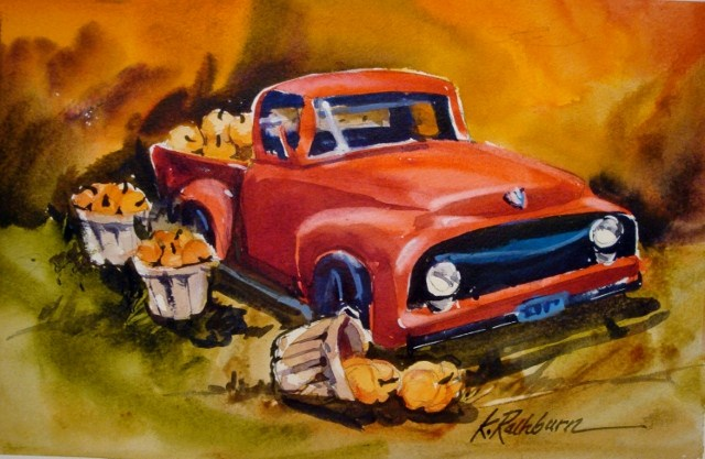 """Fall Pickin's"" original fine art by Kathy Los-Rathburn"