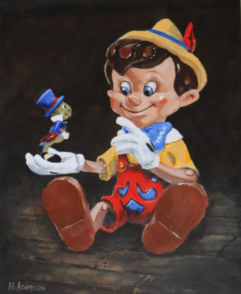 """Pinocchio"" original fine art by Helene Adamson"