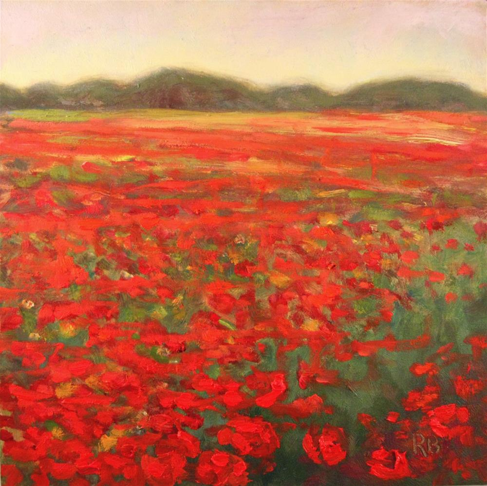 """Field of Poppies"" original fine art by Robie Benve"
