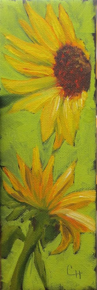 """Sunflowers no. 1"" original fine art by Claire Henning"