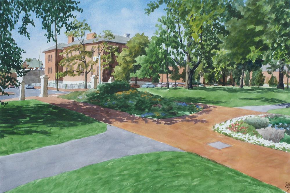 """""""Schiller Park"""" original fine art by Greg Arens"""