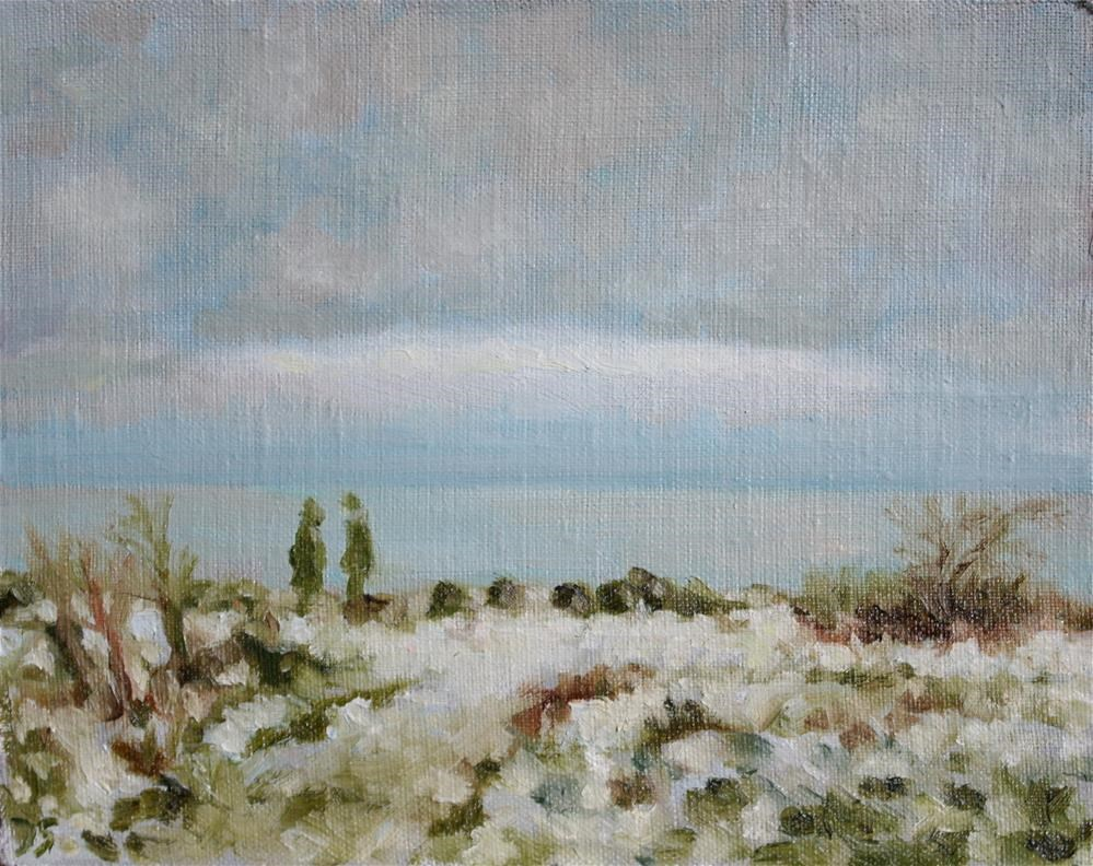 """winter sea"" original fine art by Yuriy Semyonov"