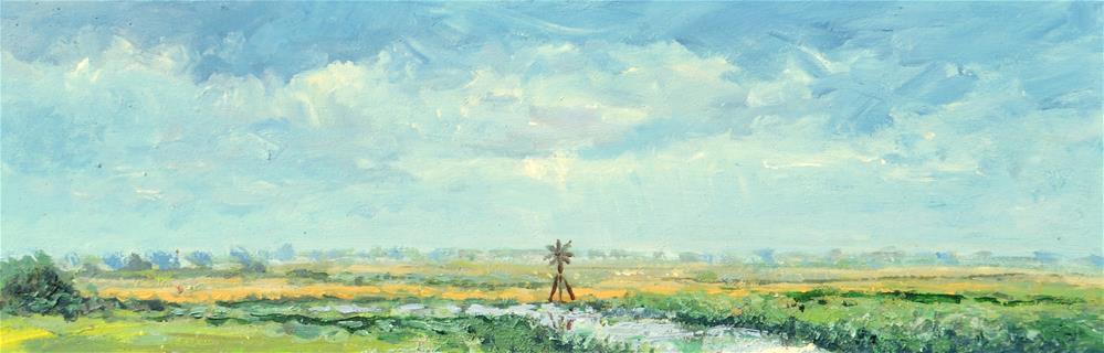 """Landscape Nord-Holland"" original fine art by Wim Van De Wege"