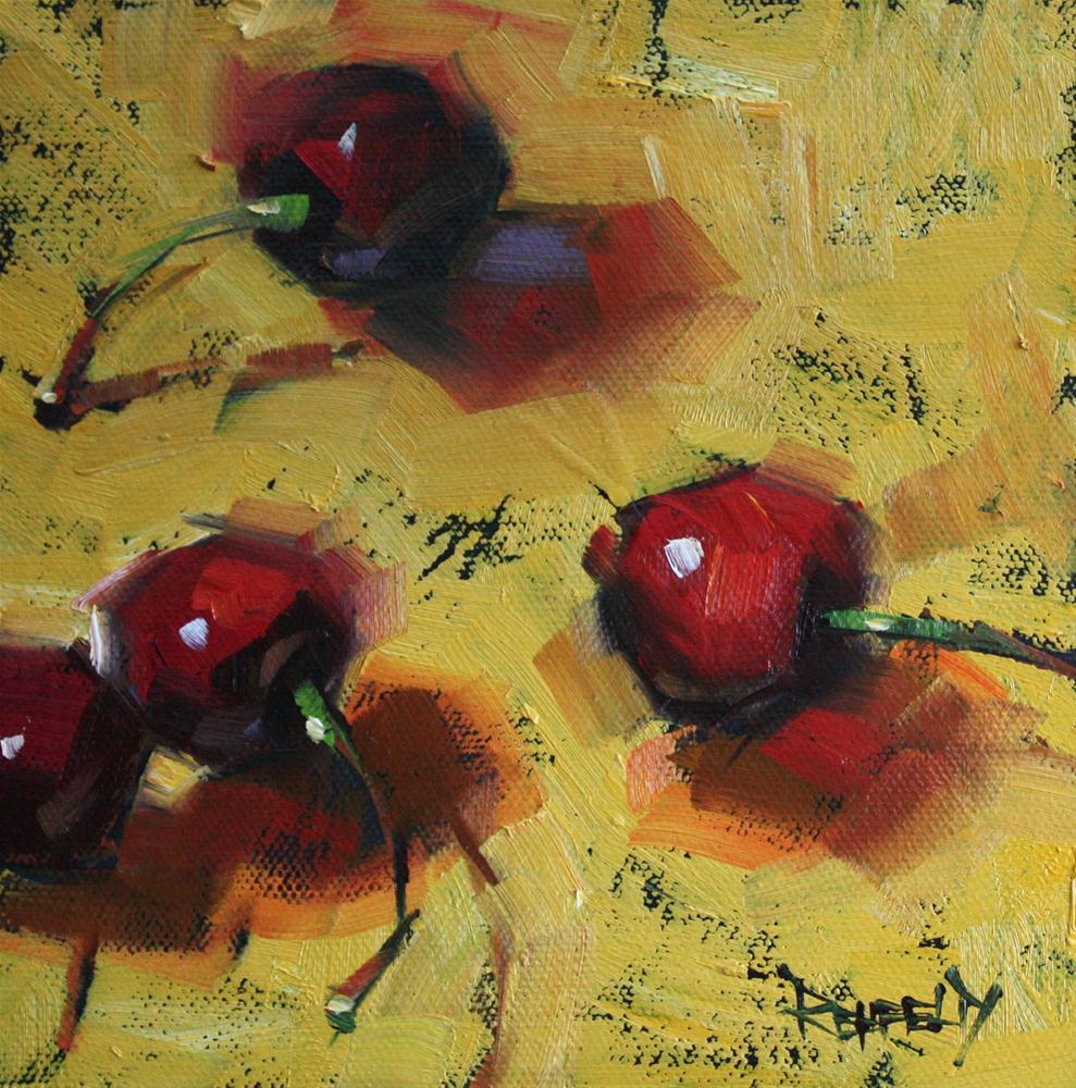 """Good News Cherries"" original fine art by Cathleen Rehfeld"