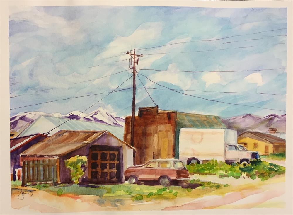"""""""Downtown Westcliffe, Colorado"""" original fine art by jean krueger"""