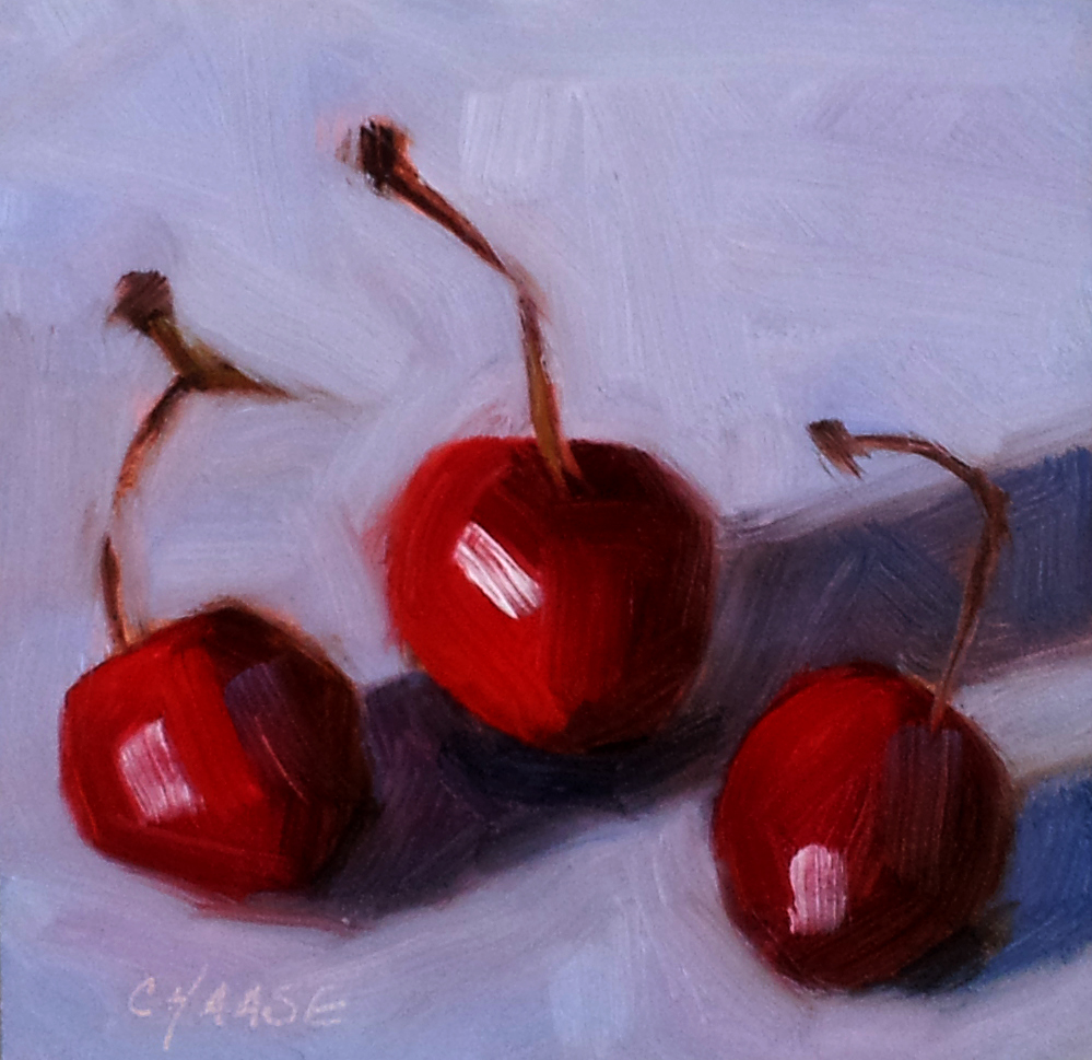 """Cherries Jubilee"" original fine art by Cindy Haase"
