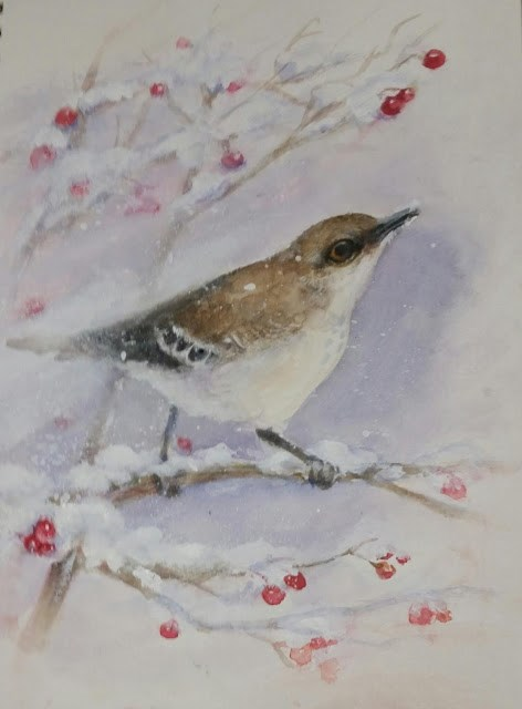 """Winter Bird"" original fine art by Wendy Starita"