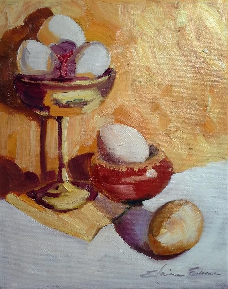 """Champagne Eggs"" original fine art by Elaine Evans"