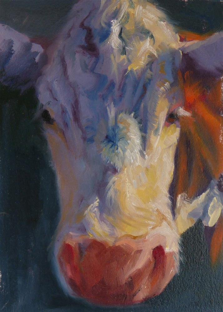 """Moove Over"" original fine art by Sharman Owings"