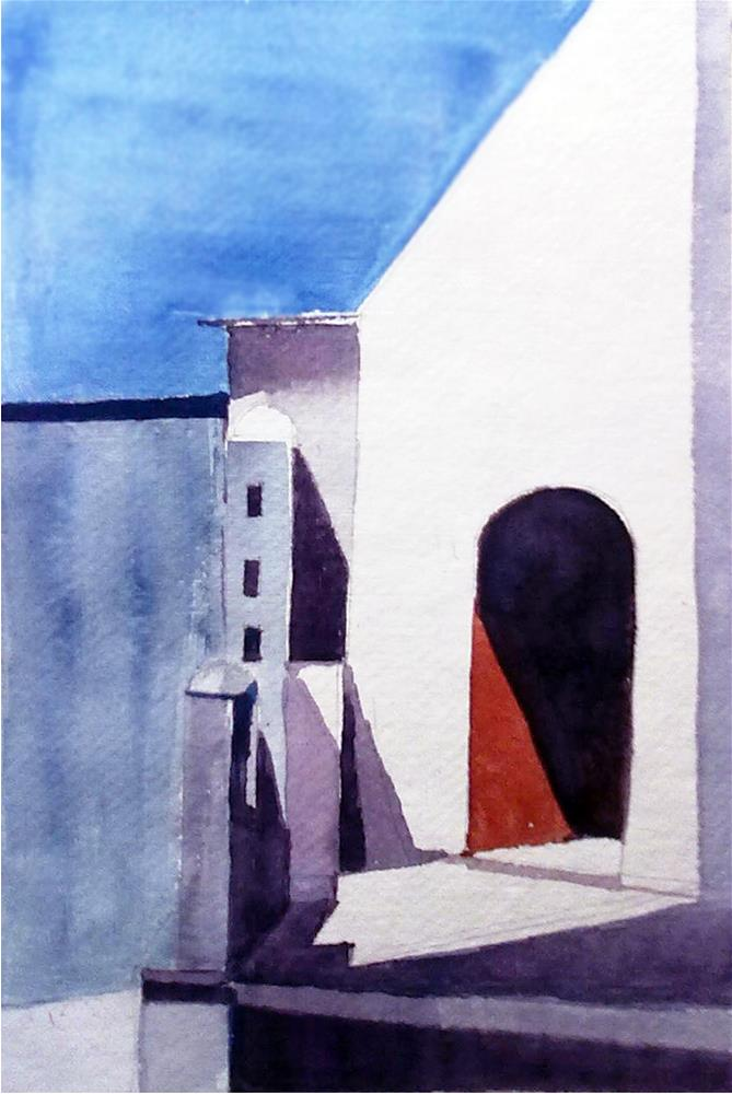"""Light and Shadows"" original fine art by Asha Shenoy S"