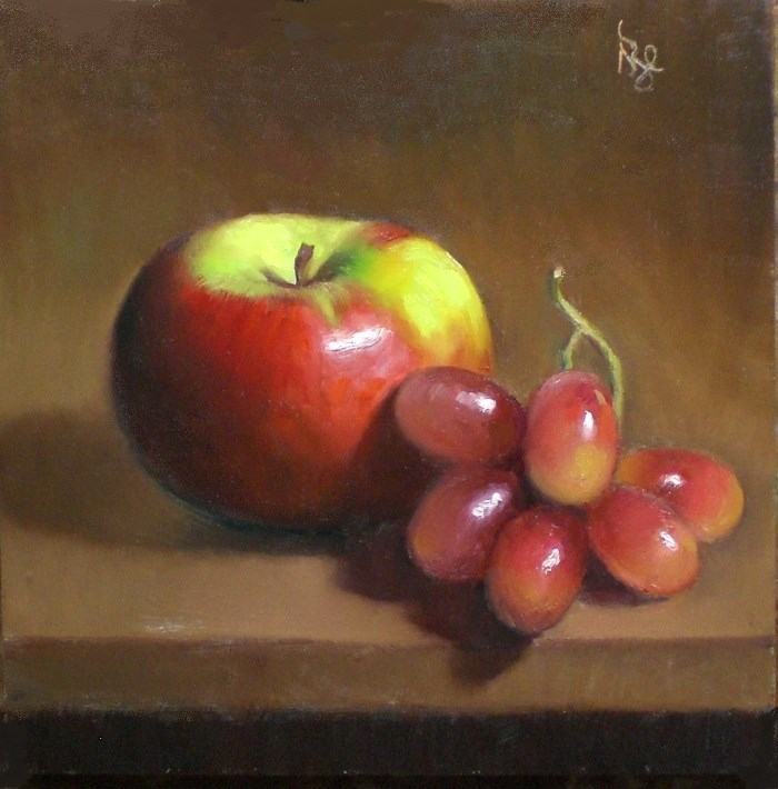 """November Apple and Grapes"" original fine art by Debra Becks Cooper"