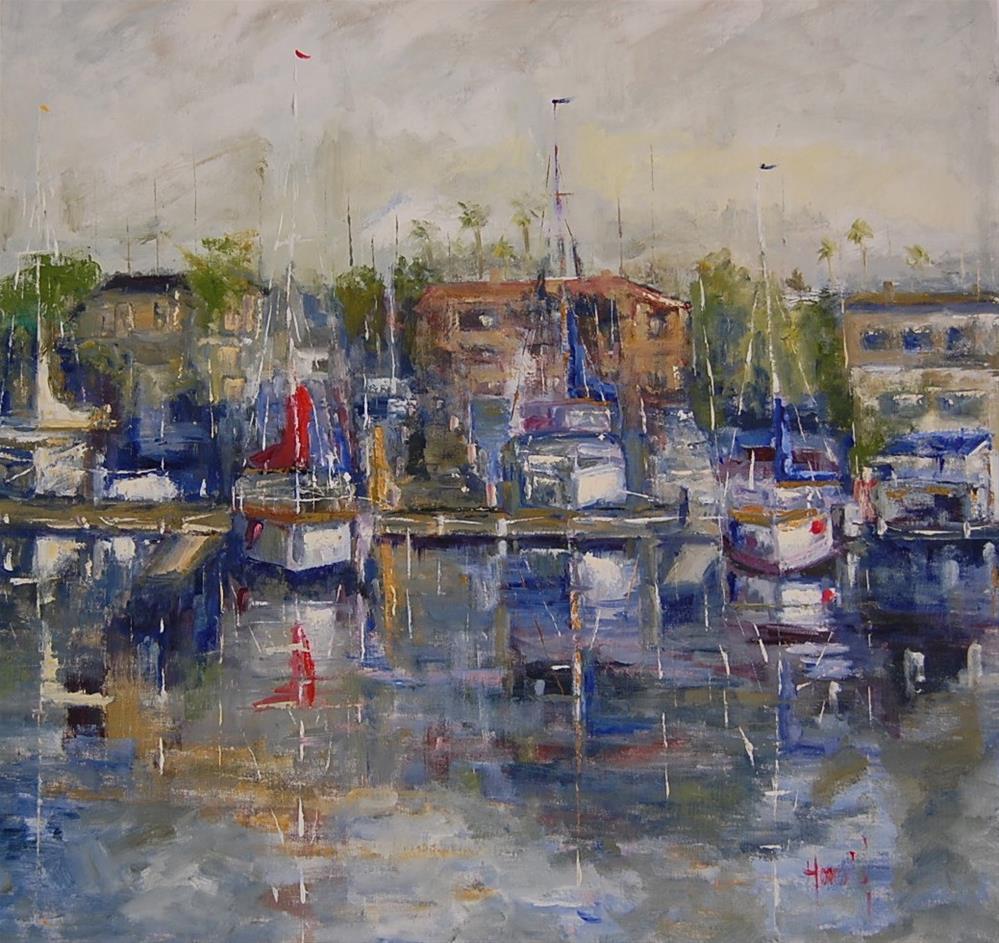 """Harbor"" original fine art by Deborah Harold"