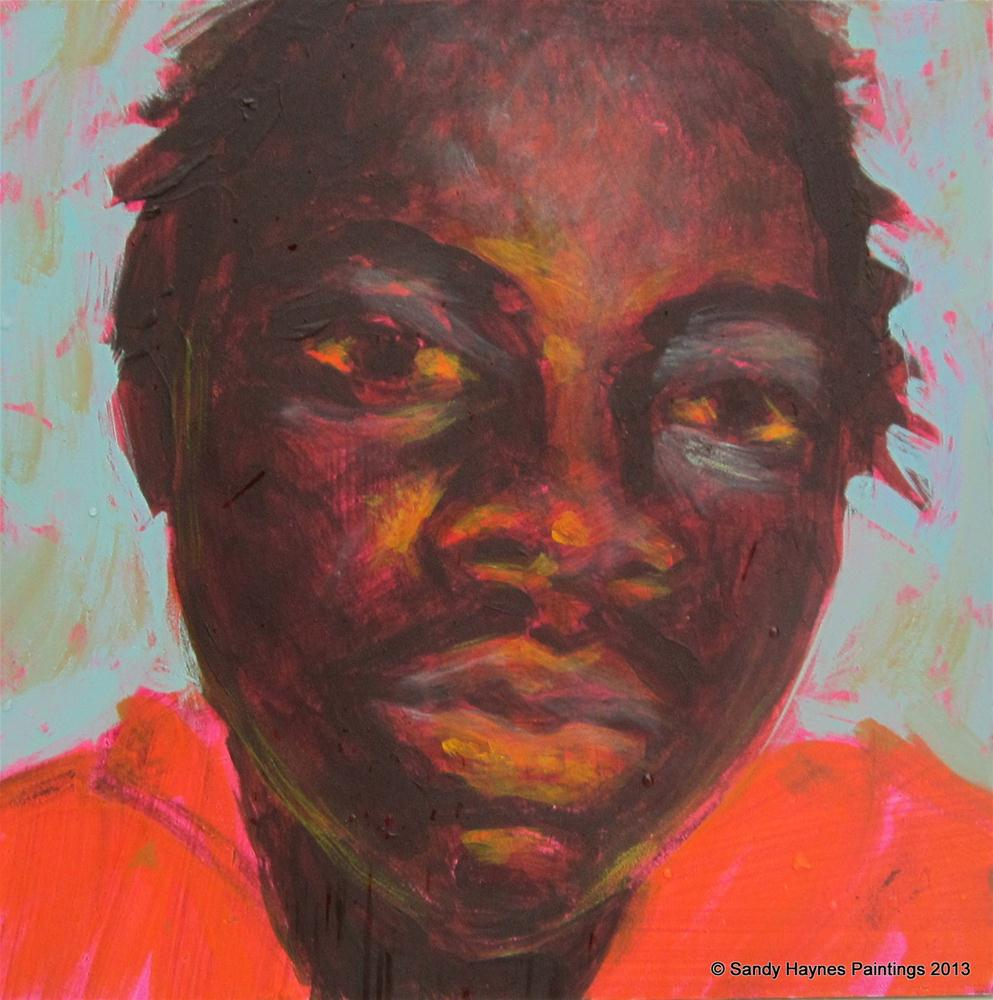 """Jamiah"" original fine art by Sandy Haynes"