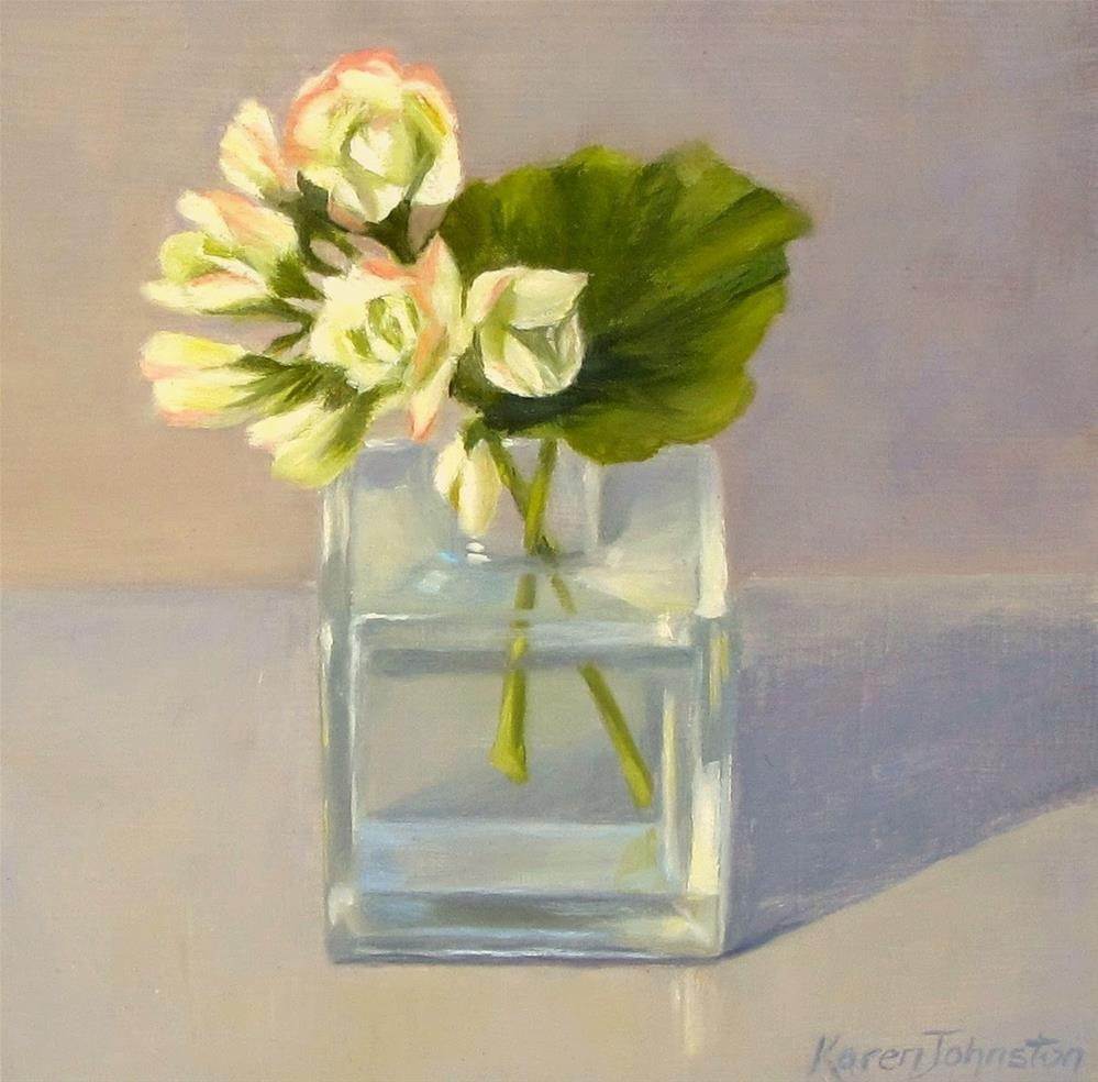 """Geranium"" original fine art by Karen Johnston"