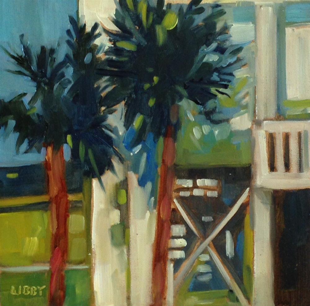 """""""Beach House 2"""" original fine art by Libby Anderson"""