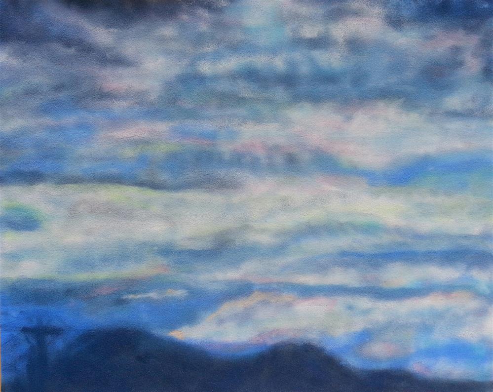 """Evening Sky From My Back Porch"" original fine art by Phyllisha Hamrick"