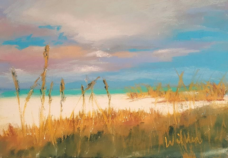 """Sand and Sea Oats"" original fine art by Judy Wilder Dalton"