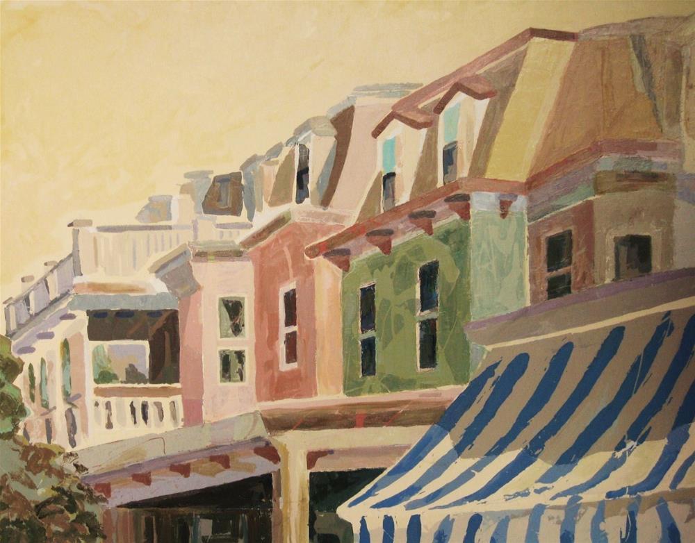 """""""Jackson Street"""" original fine art by Priscilla Bohlen"""