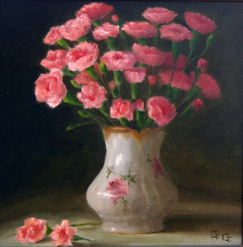 """""""Carnations"""" original fine art by G. G. Slockett"""