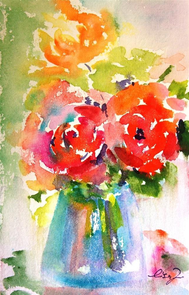 """spring color"" original fine art by Lisa Fu"