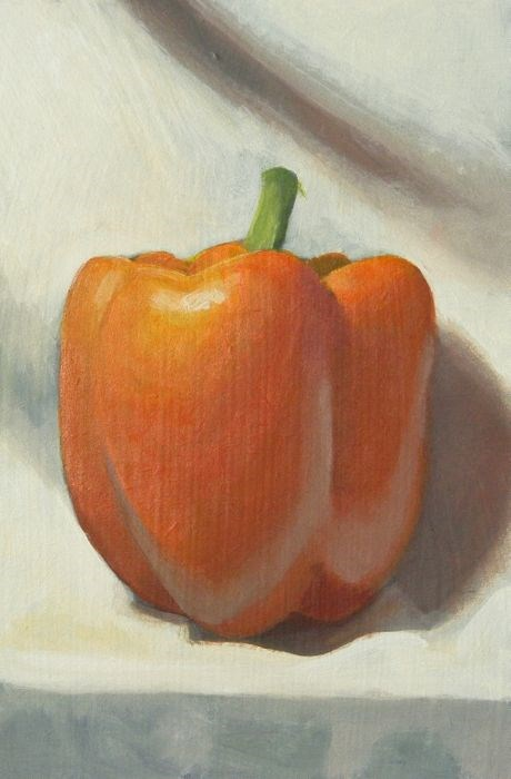 """upright pepper"" original fine art by Peter Orrock"