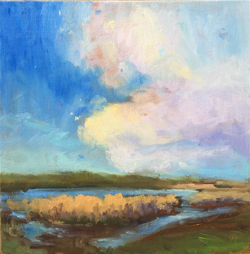 """Wetland Wonder"" original fine art by Victoria  Biedron"