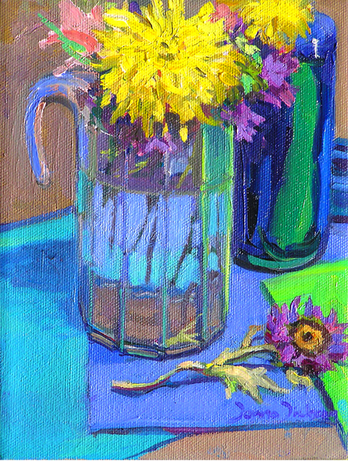 """Reflections in glass"" original fine art by Donna Dickson"