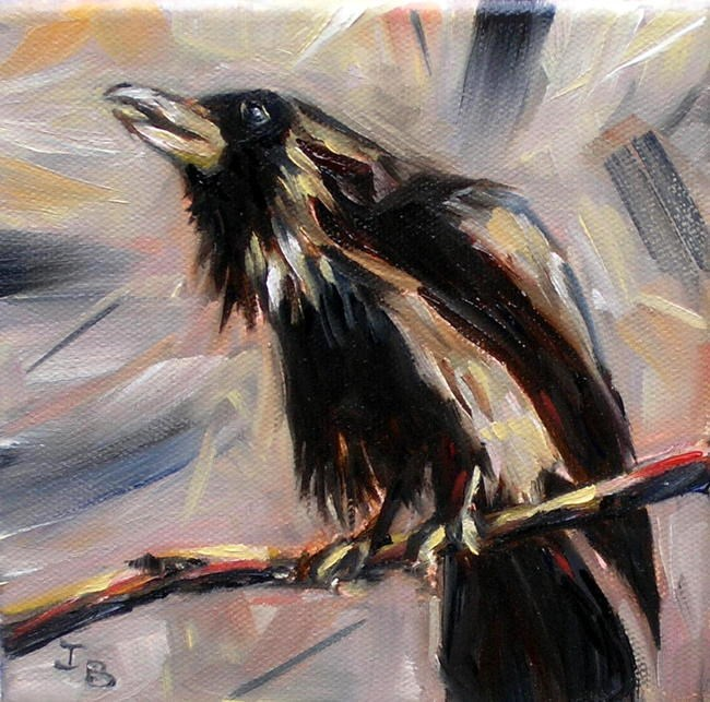 """Raven"" original fine art by Irina Beskina"