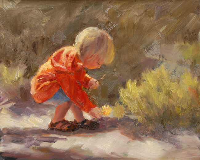 """The Young Collector"" original fine art by Julie Kirkland"