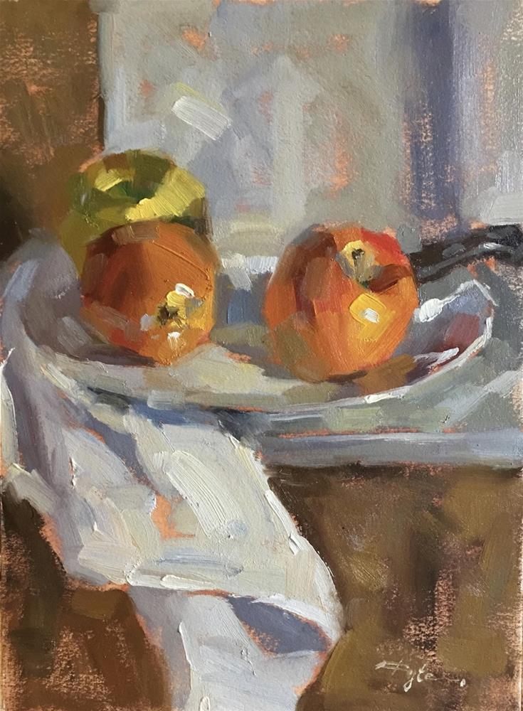 """Three Apples"" original fine art by Katia Kyte"