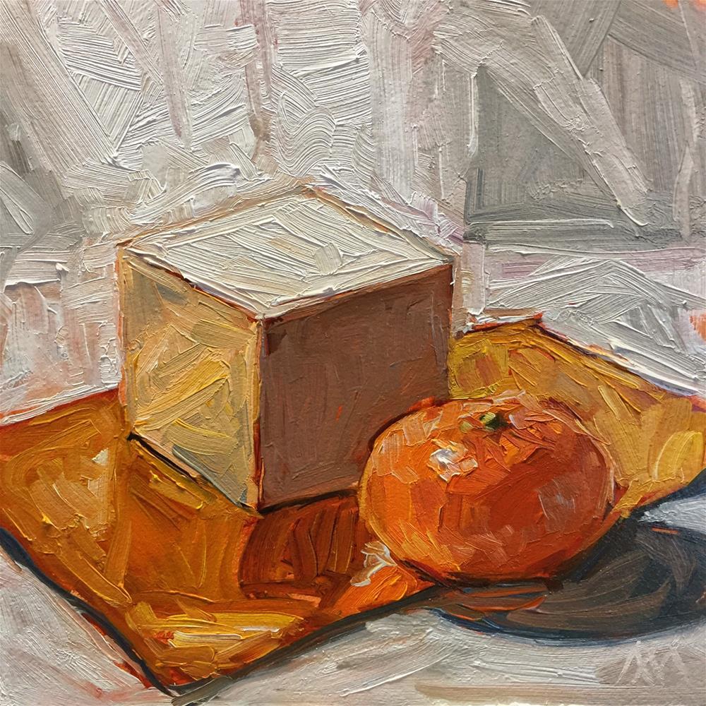 """Mandarin & Cube"" original fine art by Austin Maloney"