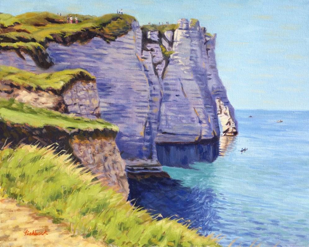 """Cliffs of Etretat France IV"" original fine art by Daniel Fishback"