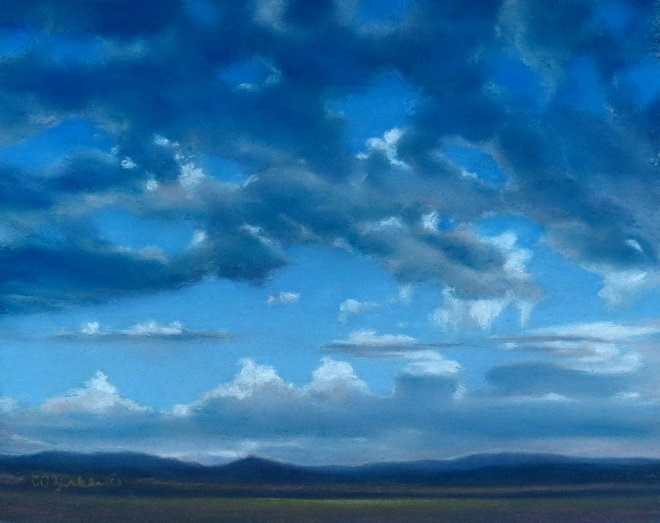 """Early Morning Blues"" original fine art by Carol Zirkle"