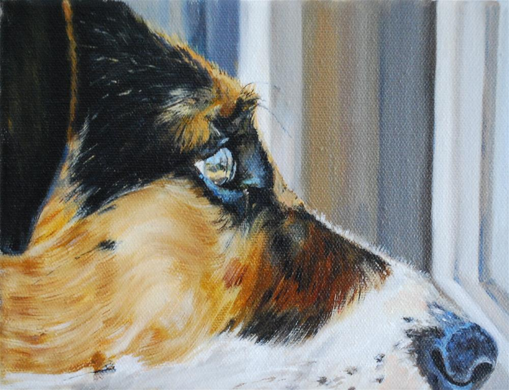 """Mattie (right profile)"" original fine art by Beverley Phillips"