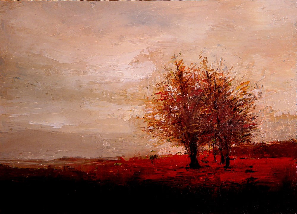 """Sparse Autumn Trees"" original fine art by Bob Kimball"