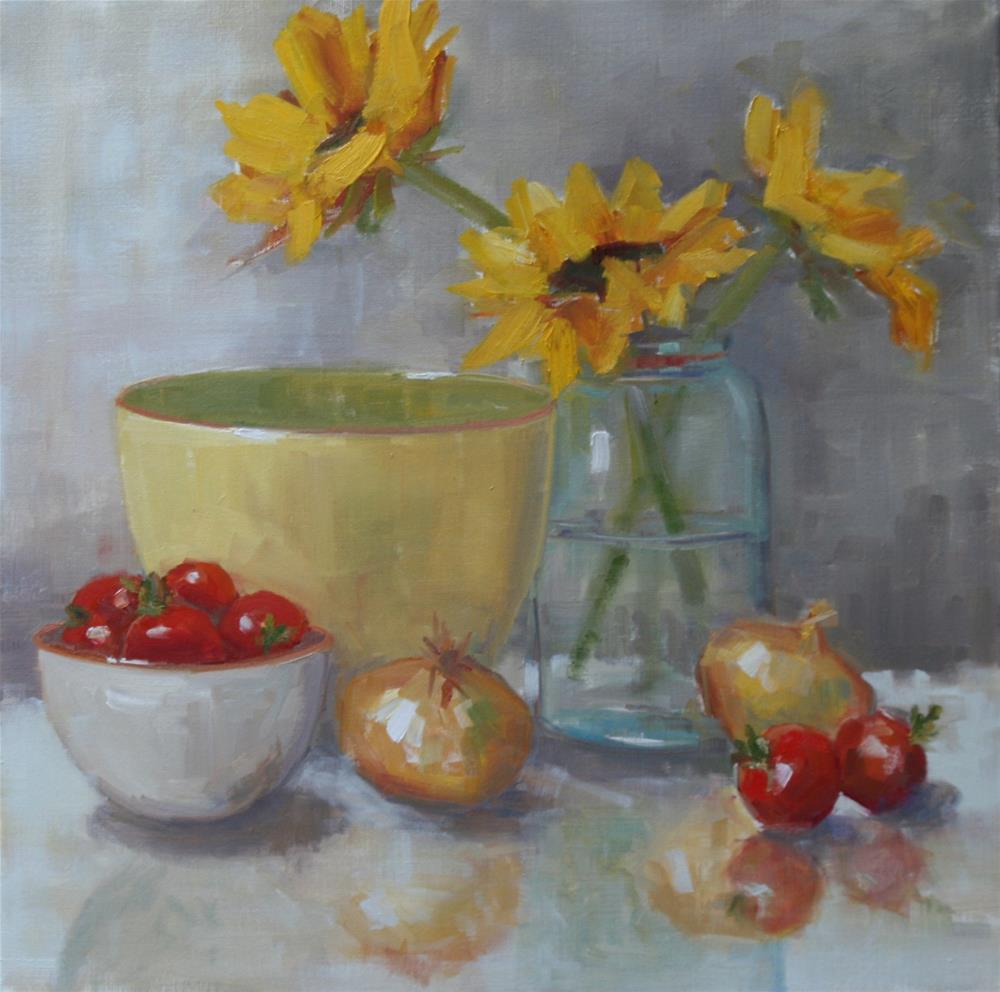 """garden gems"" original fine art by Carol Carmichael"
