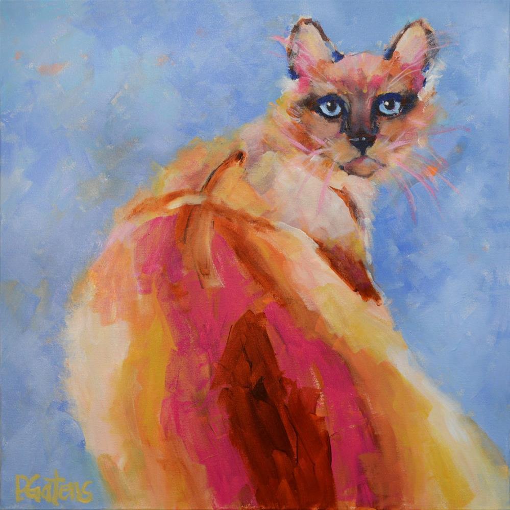 """Siamese Sapphire"" original fine art by Pamela Gatens"