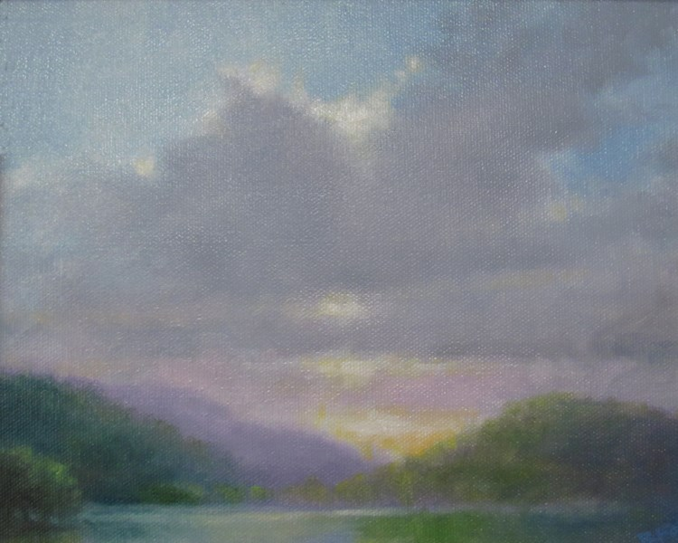 """High Mountain Lake (SOLD)"" original fine art by Barbara Fox"