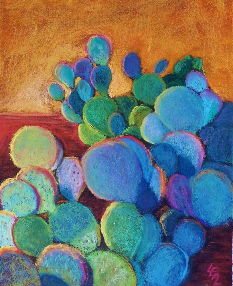 """""""Cactus in the Sky"""" original fine art by Anna Lisa Leal"""