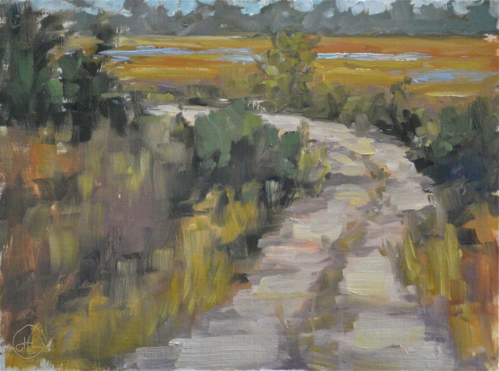 """ peace at the end of the road"" original fine art by Dottie  T  Leatherwood"