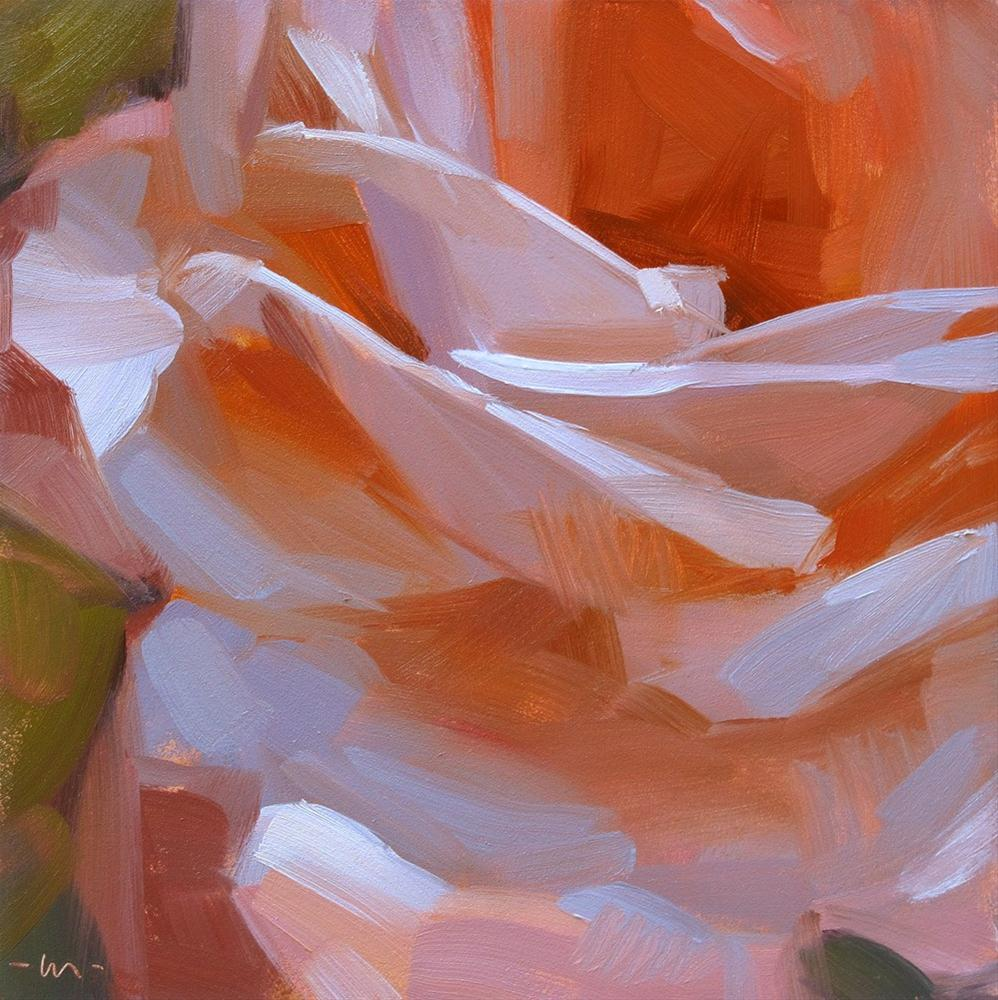 """Nose to the Rose"" original fine art by Carol Marine"