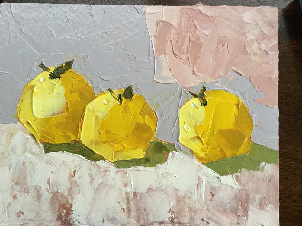 """Alejandro' s Apples"" original fine art by pamela kish"