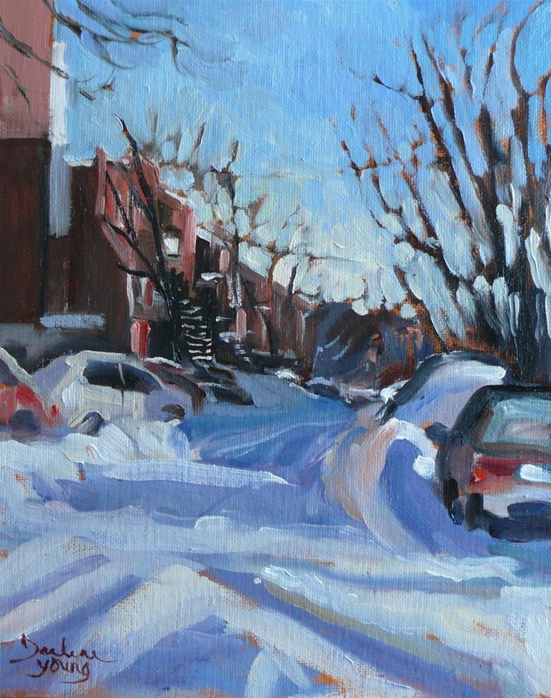 """902 Montreal Winter Morning, oil on board, 8x10"" original fine art by Darlene Young"