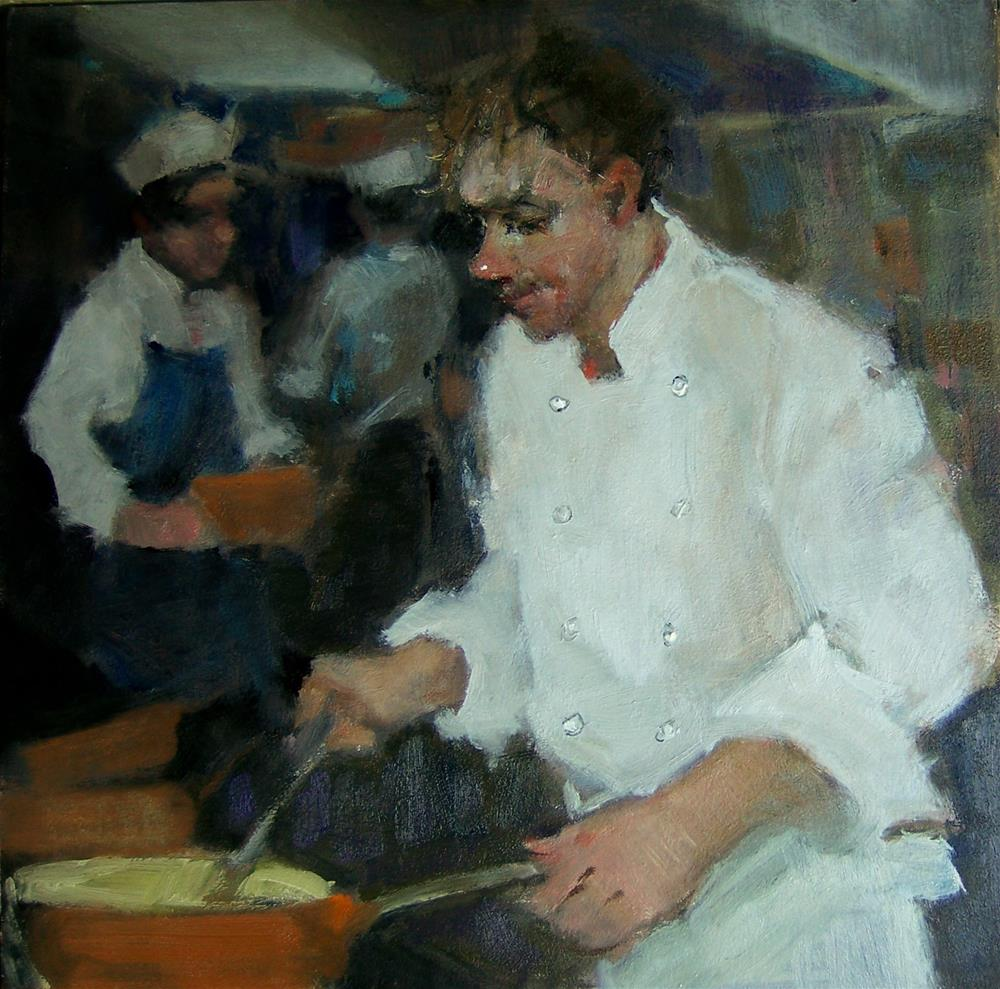 """Master Chef"" original fine art by Kim Roberti"