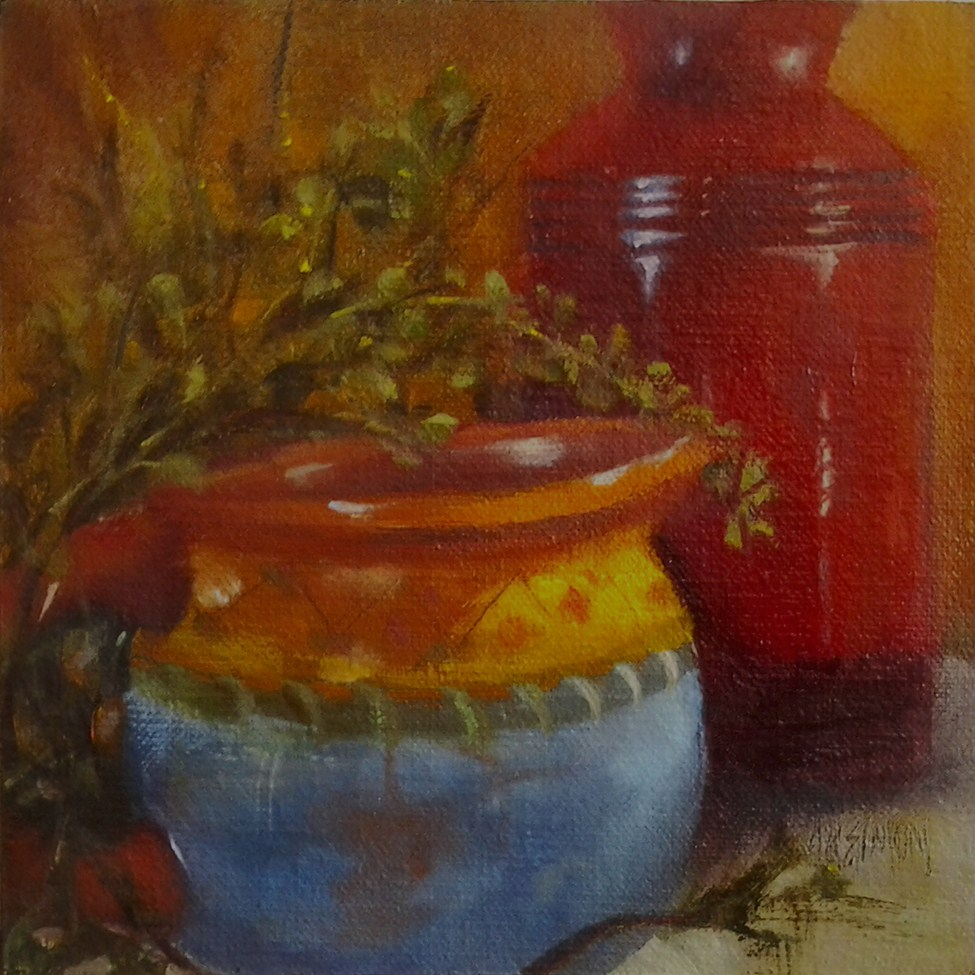 """Santa Fe Kitchen"" original fine art by A.K. Simon"