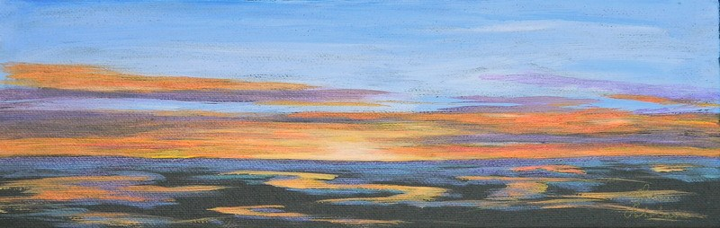 """Sunset"" original fine art by Gloria Urban"
